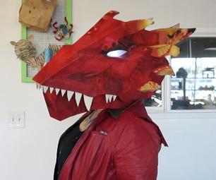 Upcycled Dragon Head Mask