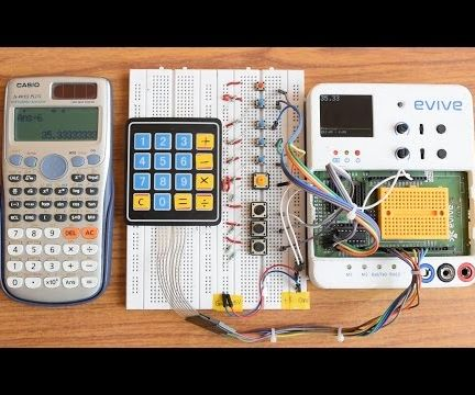 Scientific Calculator With Evive (arduino Powered Embedded Platform)