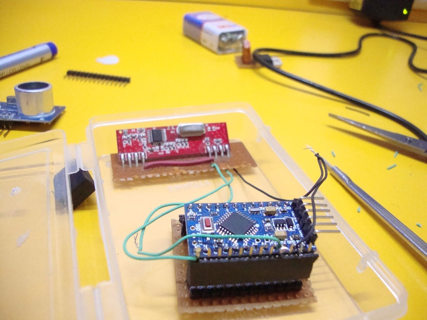 Making the Transmitter: Connect the RF Receiver Module