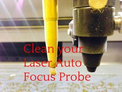 Laser Engraver Auto Focus Probe - Cleaning