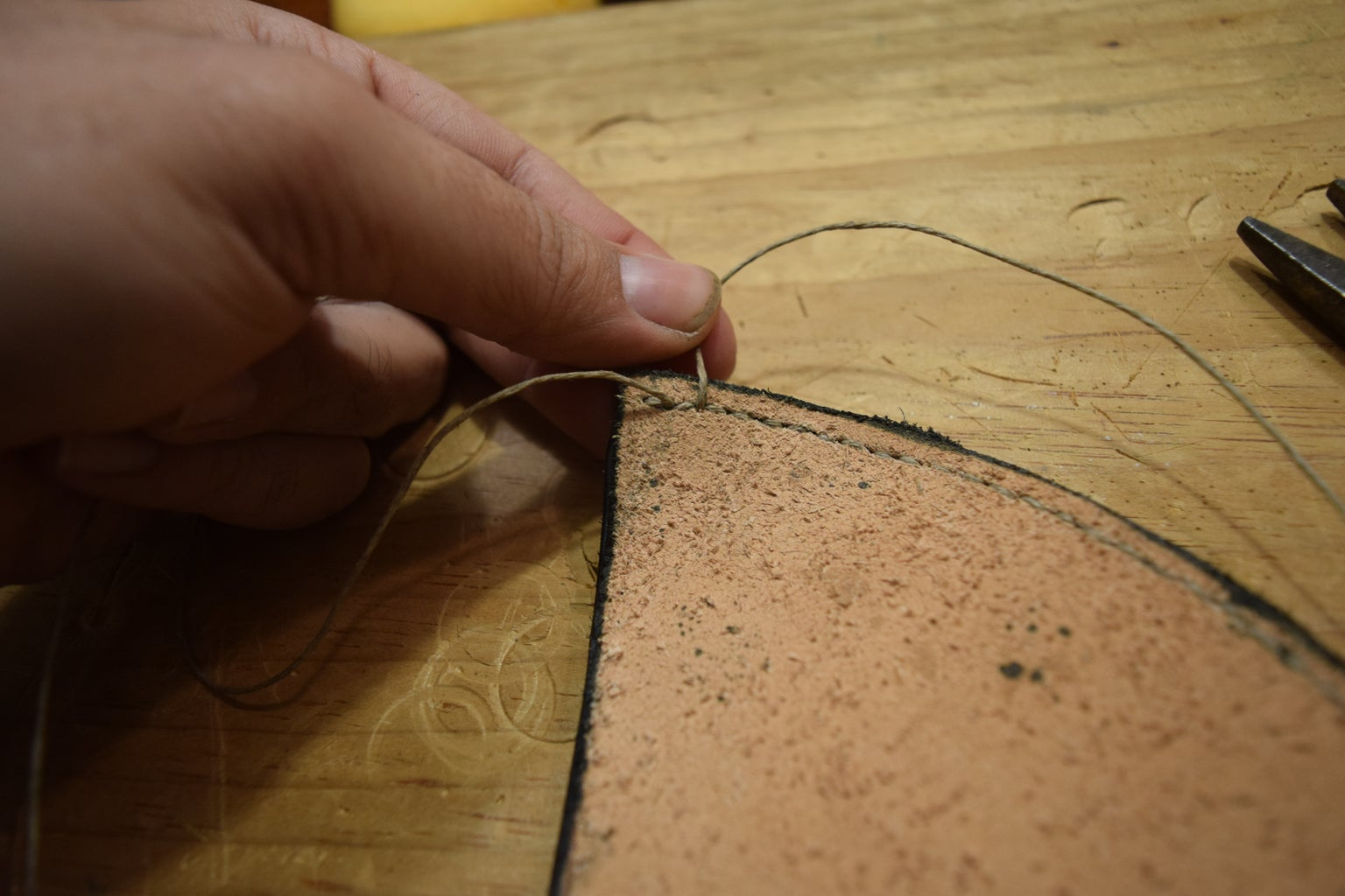 """Prepping the """"Toe"""" With the Saddle Stitch"""