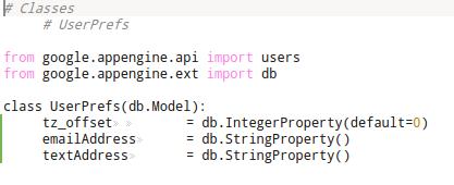 App Engine: Models.py