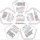 Dodecahedron Calendar - 2 page - Customizable