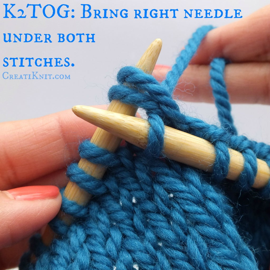 Bring Your Right Needle Under Both Stitches