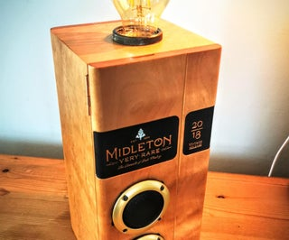 Whiskey Box Converted to Bluetooth Speaker Lamp