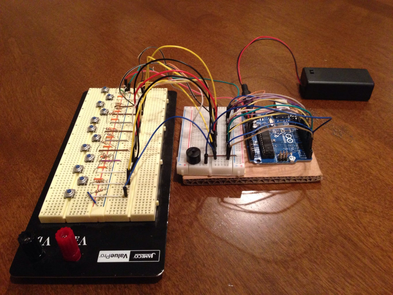 Connecting Wires From Arduino Board to Breadboard 1