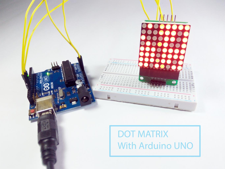 Dot Matrix With MAX7219 Interfacing With Arduino