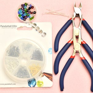 Craft Supplies for Jewelry Making the Beaded Dangle Earrings:
