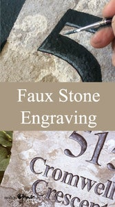 Faux Engraved Stone