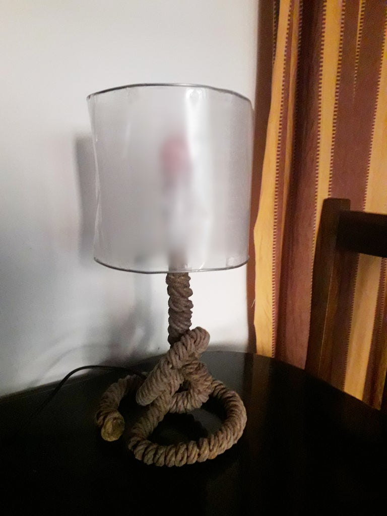 DIY Knotted Rope Table Lamp!