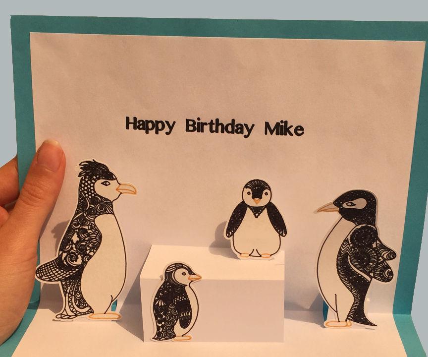 Penguin Pop-Up Card