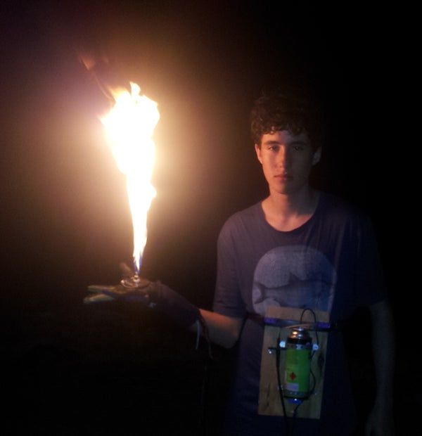 HOW TO MAKE a Butane Pyro Hand. 1m High Flames in the Palm of You Hand! for $10