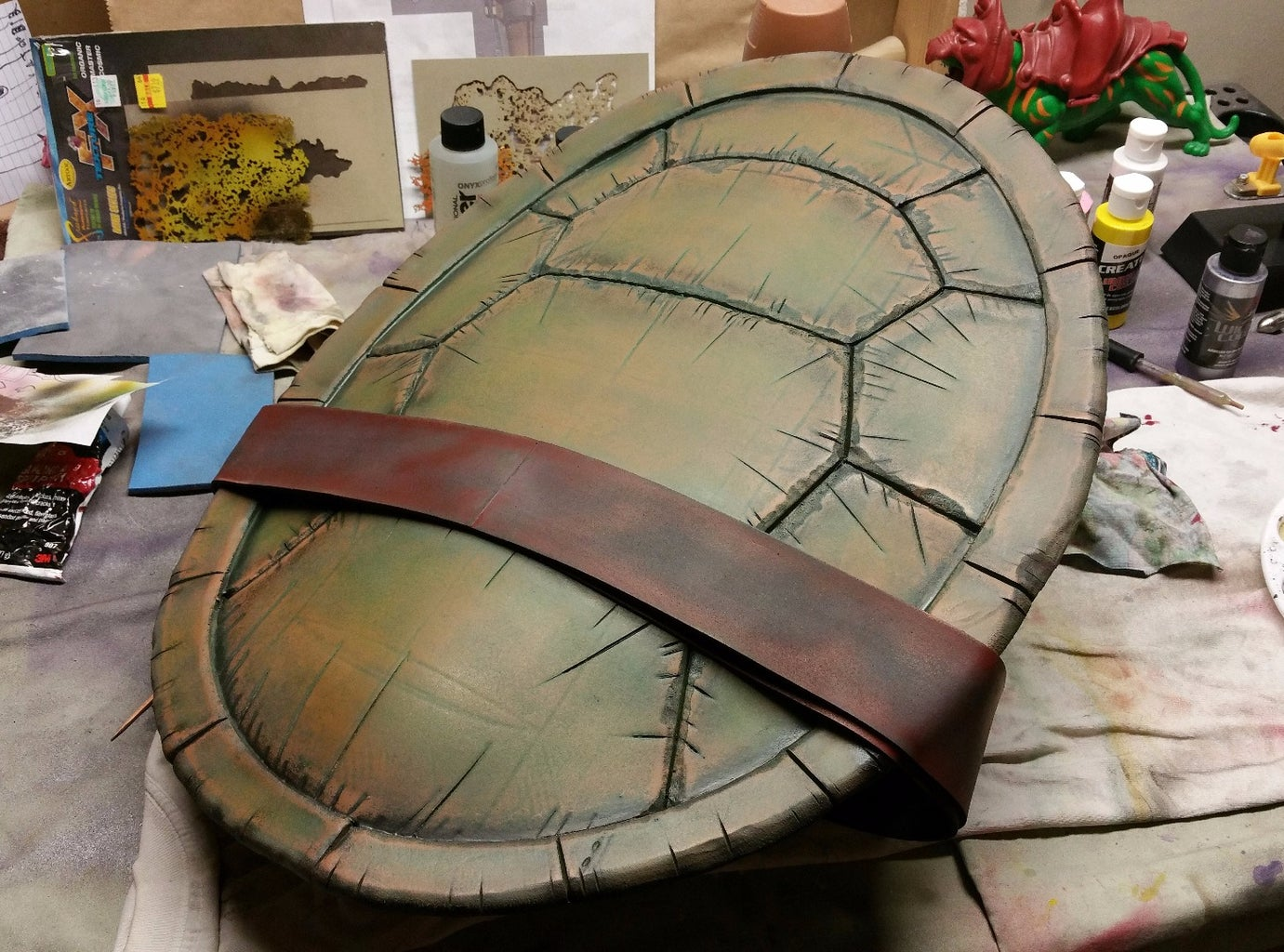 Painting the Belt and Buckle