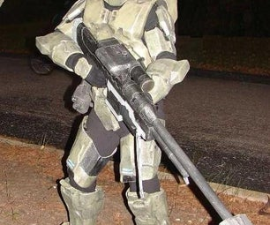 Cardboard/Fiberglass Halo 3 Inspired Master Chief Costume