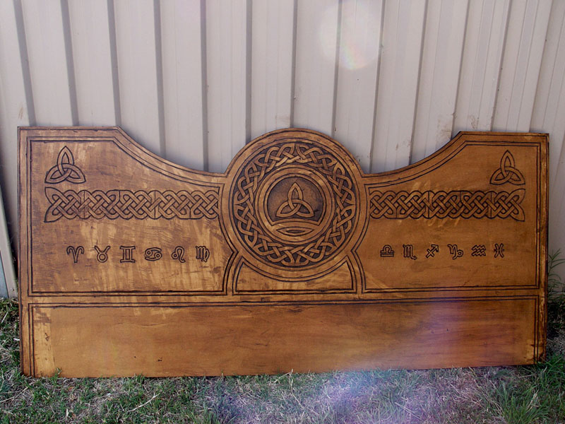 Hand Carved Bed Head