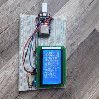 ST7920 128X64 LCD Display to ESP32