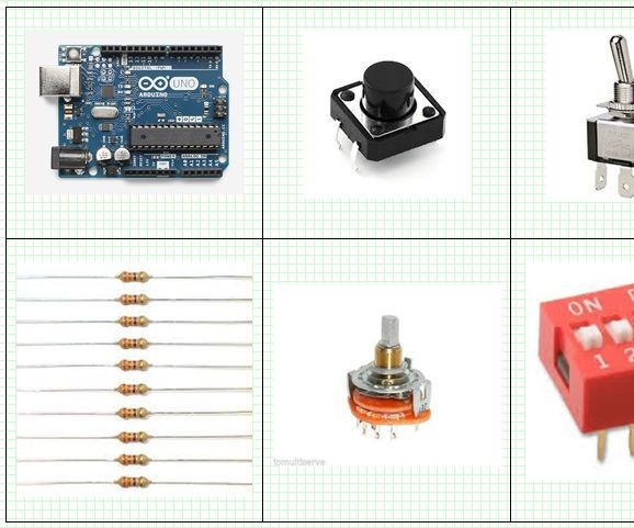Arduino and DIP, Rotary, Toggle, Push Button Switches