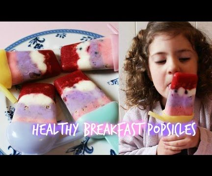 Greek yogurt, granola & berry breakfast popsicles