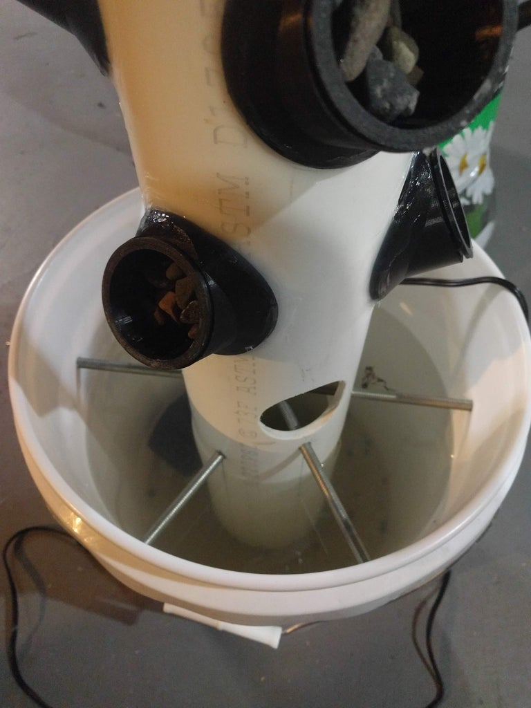 Mount the Pipe Into the Bucket