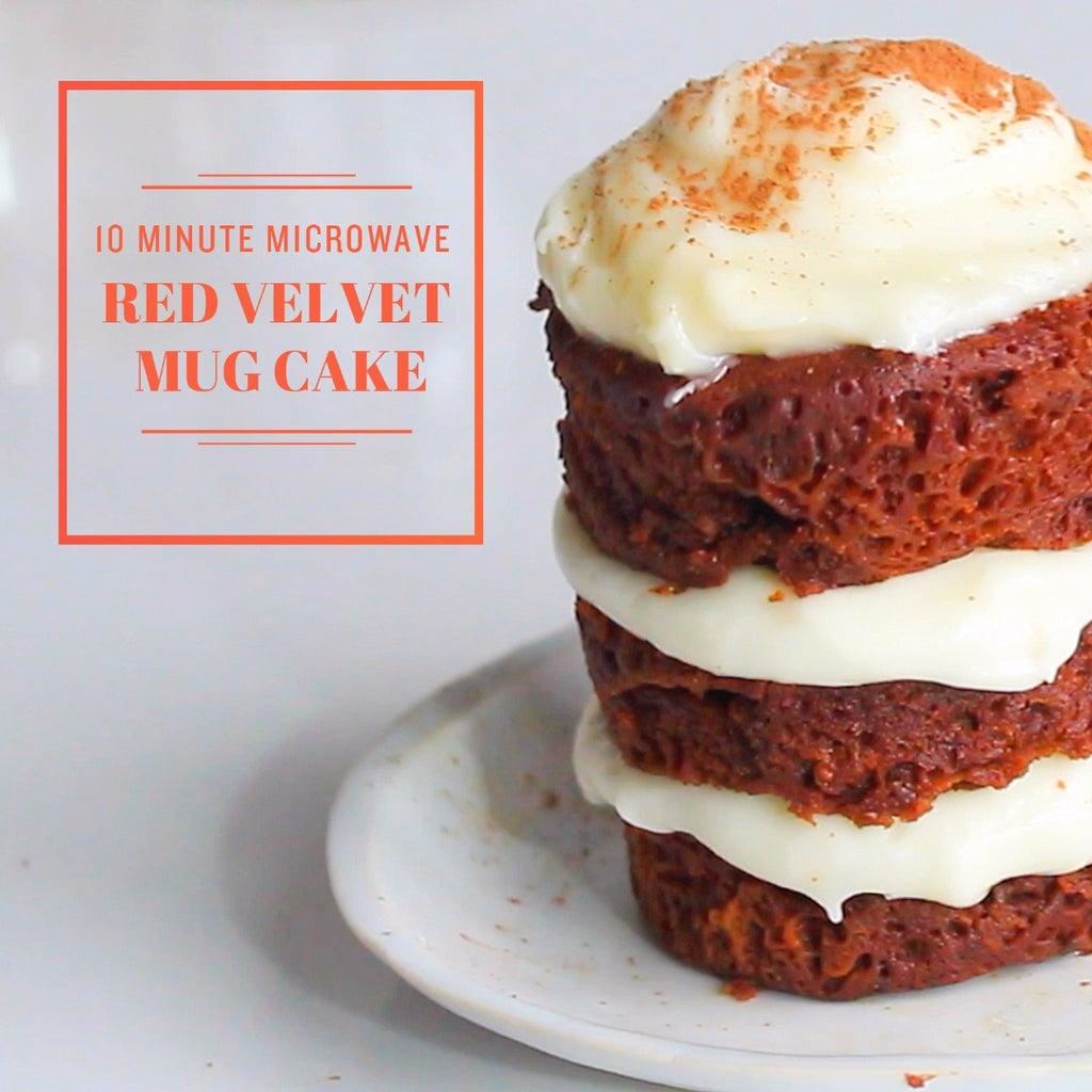 Red Velvet Mug Cake (Made in the Microwave!)