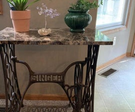 Antique Singer Sewing Machine  Turned Table!