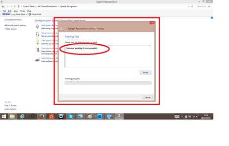 Setting Up Windows Speech Recognition Software.