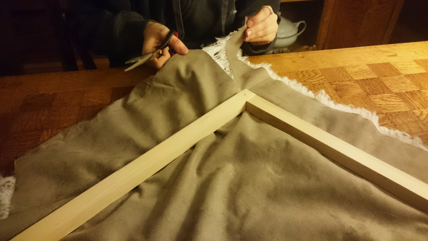 Cut and Attach the Fabric