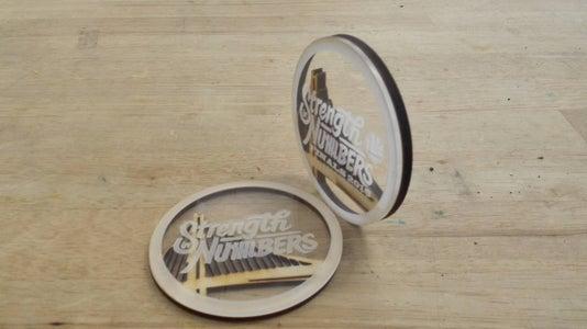 Laser Cut Wood and Plastic Medallion