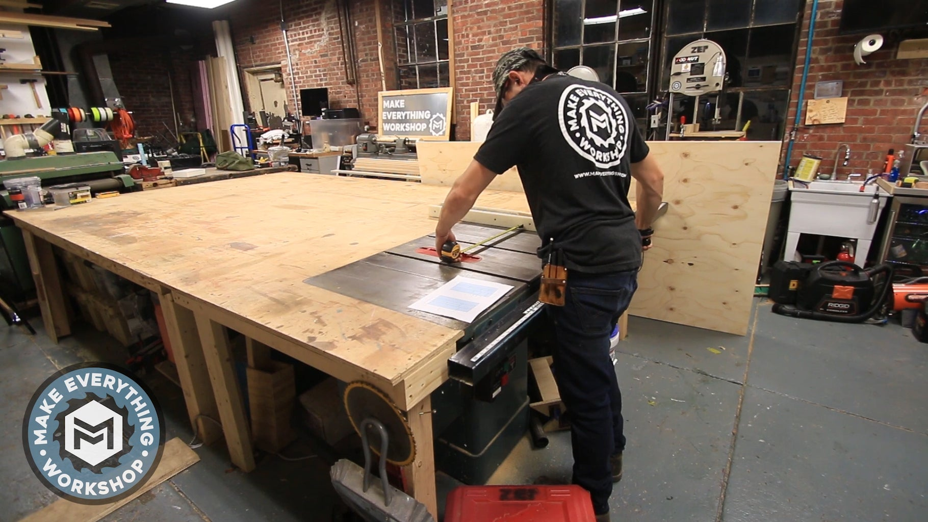 Cutting the Plywood Sides