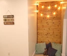 Cozy Reading Nook - Shiplap & Lights