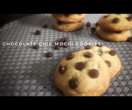Chocolate Chip Mochi Cookies
