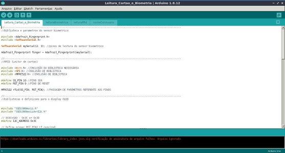 """Software - Explicação Do Código """"Leitura_Cartao_e_Biometria"""""""