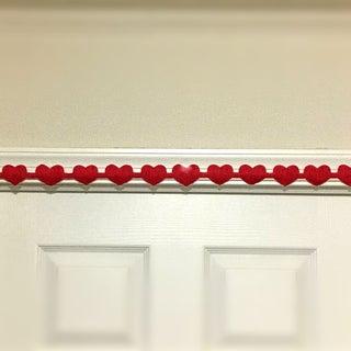 DIY Crepe Streamer Garland for Valentine's Day