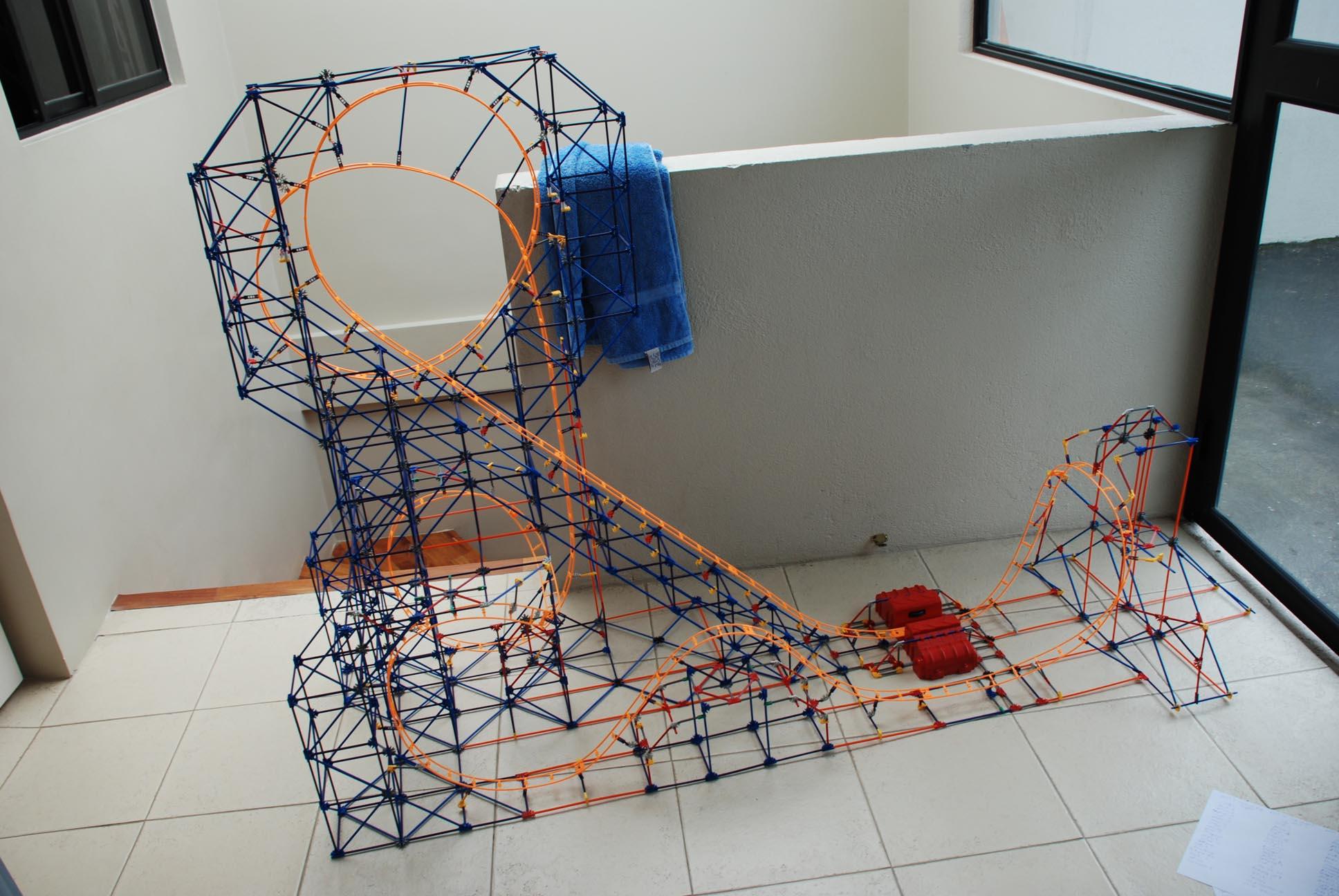 Full Throtle Knex roller coaster