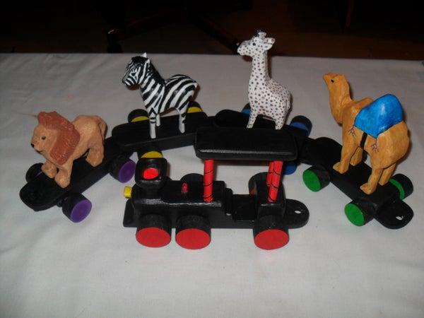 Iris' Wooden Toy Circus Train