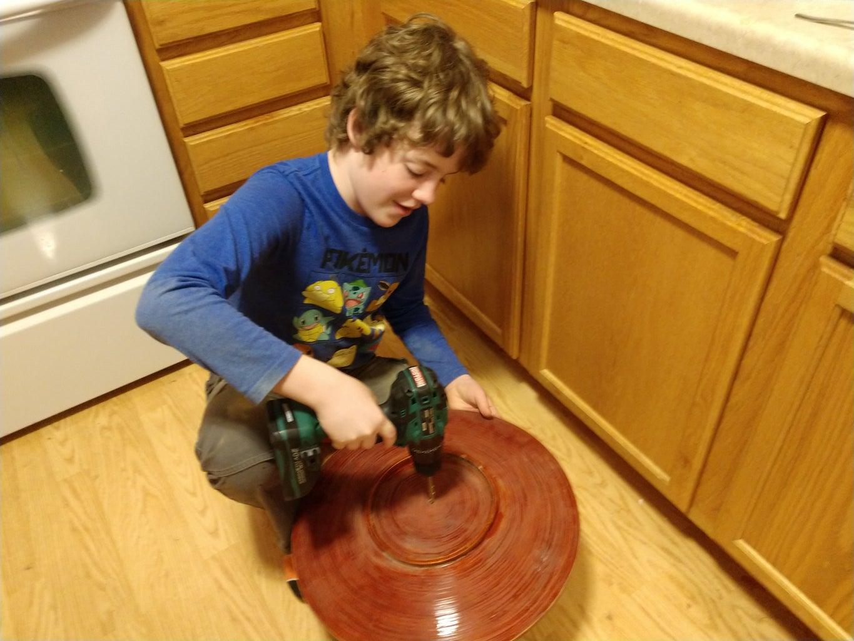 Making the Clock Shaft Hole