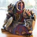 W.O.W Dwarf Paladin sculpture