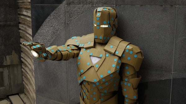 Build Ironman Mark VI Out of Makedo and Cardboard Paper