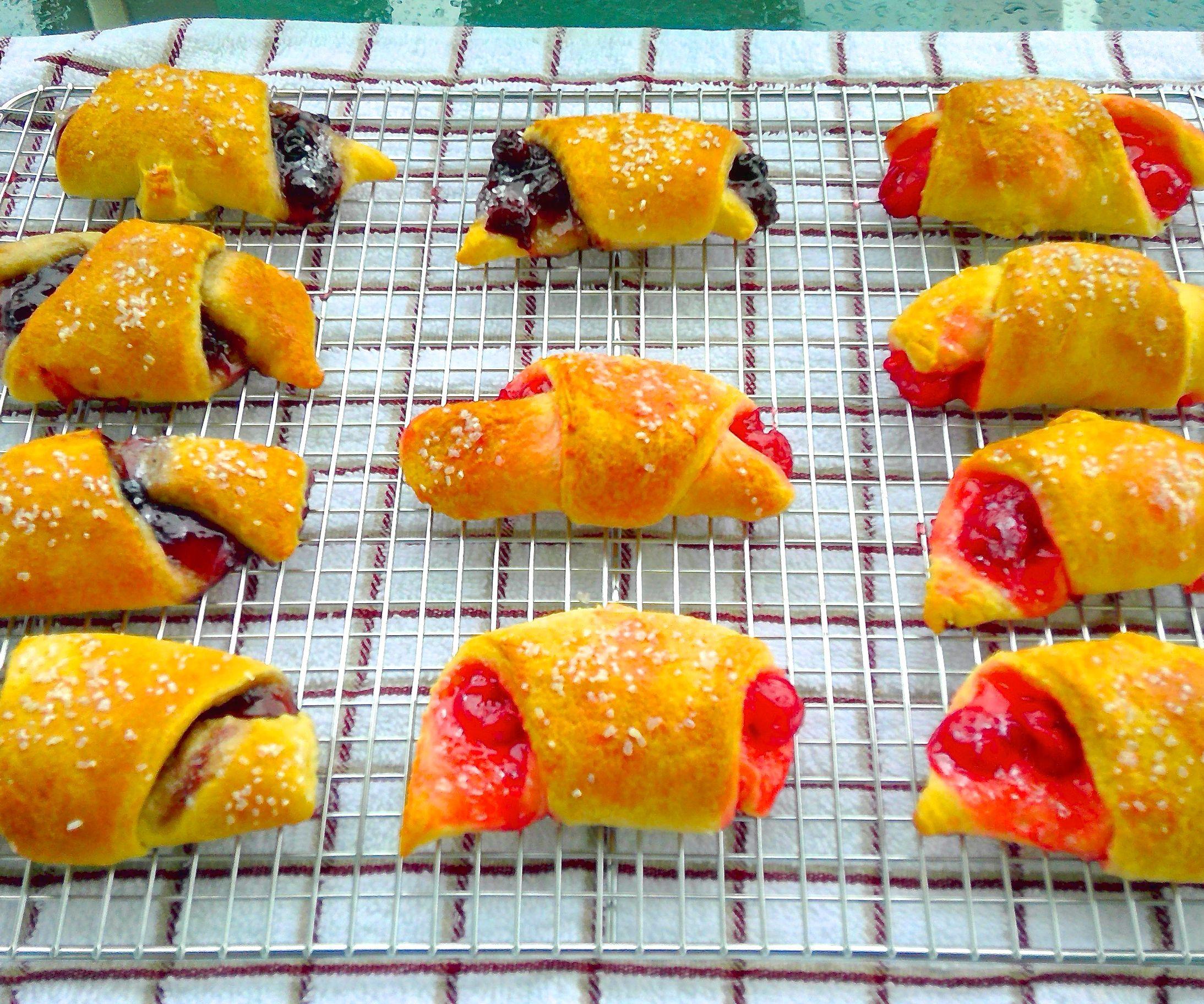 Cherry/Blueberry  Croissants