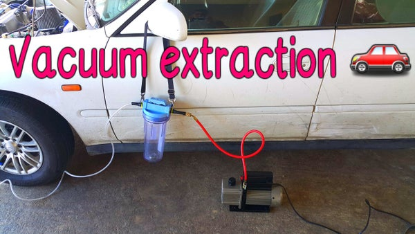 Vacuum Extraction of Transmission Oil.