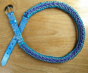 Paracord and Leather Belt