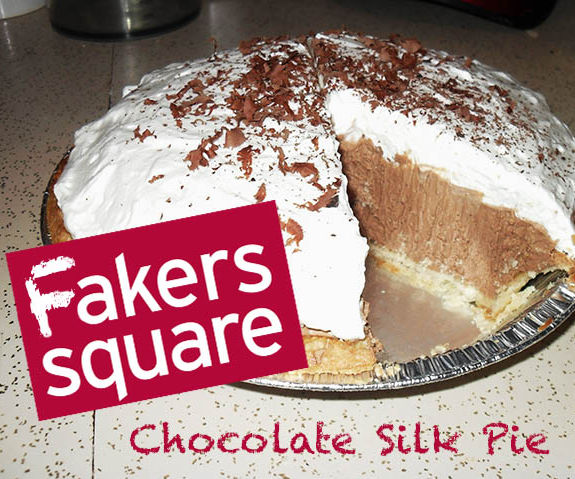 """Fakers Square"" Chocolate Silk Pie"