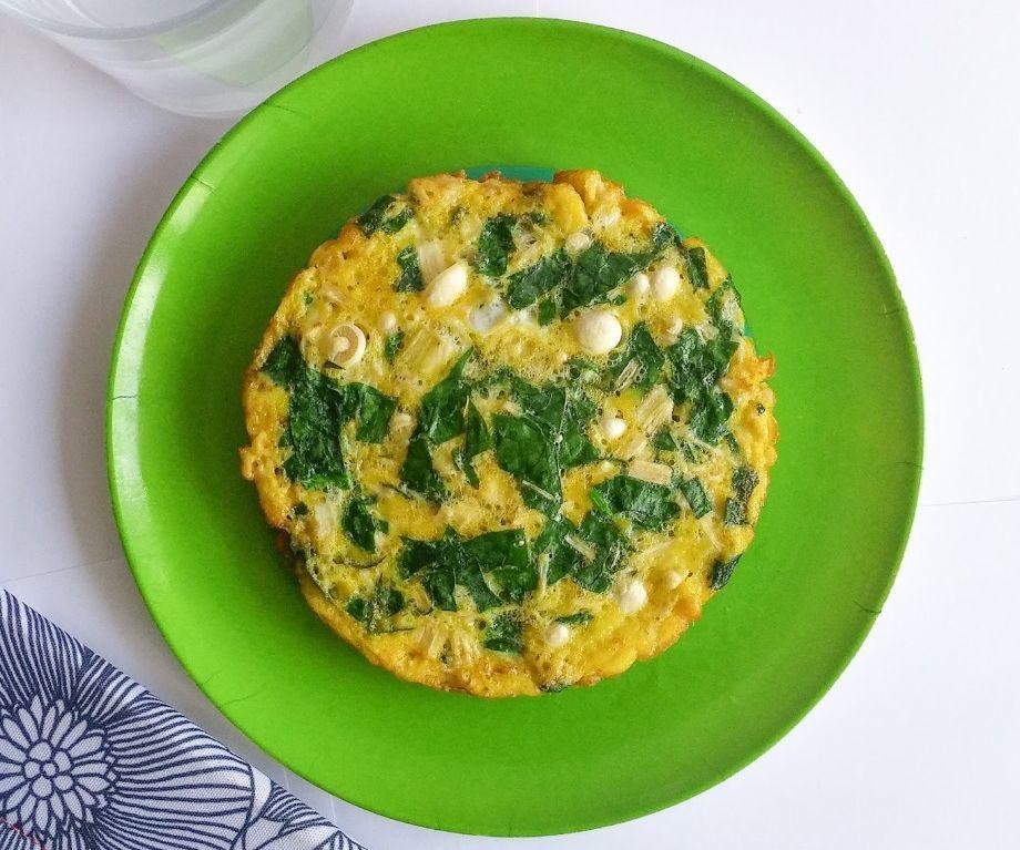 Enoki Mushroom Omelette