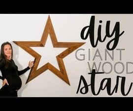 DIY Giant Wood Star