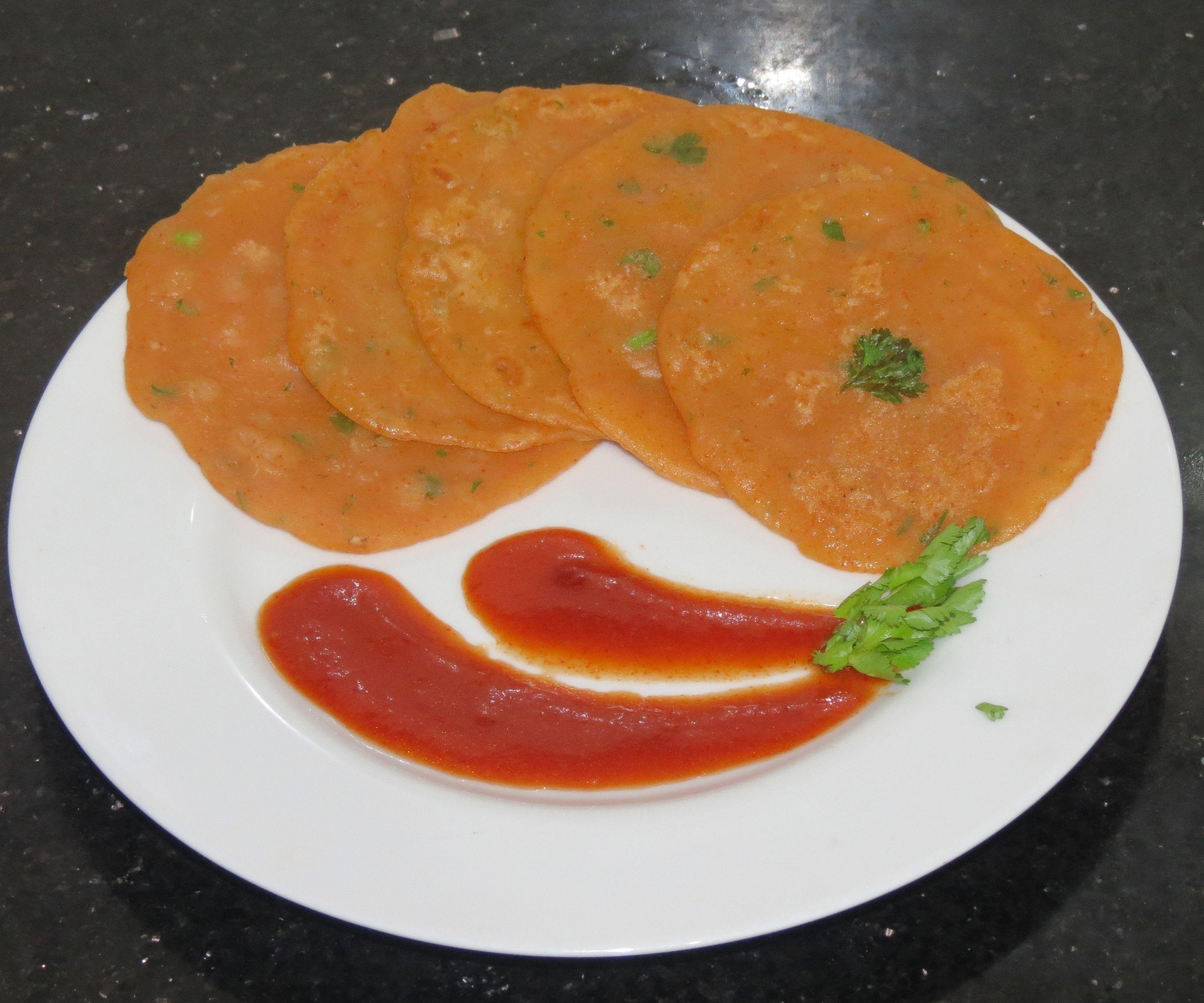 Spicy watermelon pancakes
