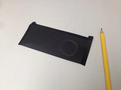 رسم وقطع دائرة في المقسم
