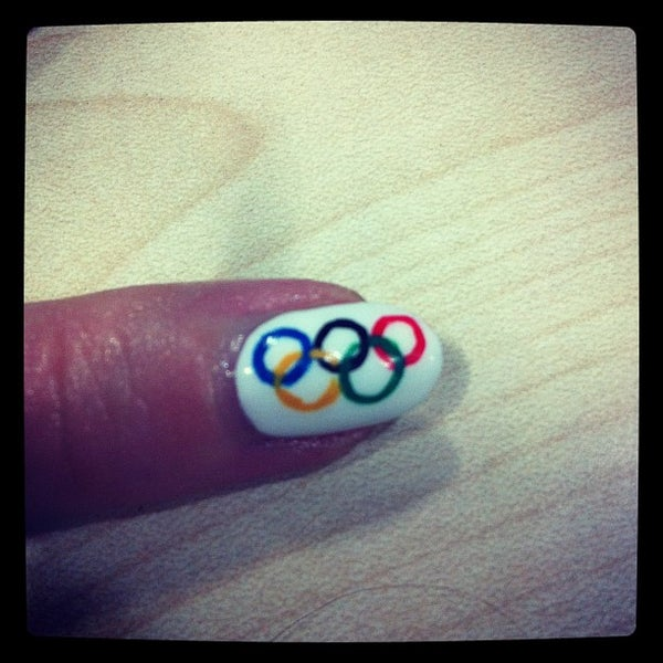 Olympic Rings Nail Art!