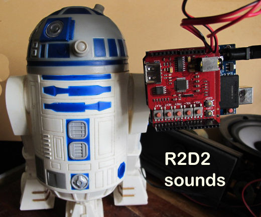 R2D2 Sounds on your Robot, Arduino