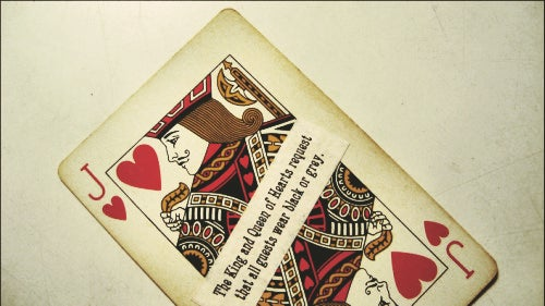 The Ticket & Playing Card & RSVP Card