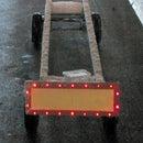 Bike (trailer) panel light from LCD monitor